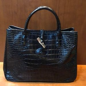 ... Tote Longchamp Croco Top Handle Bag ... 6529d8d3b81e0
